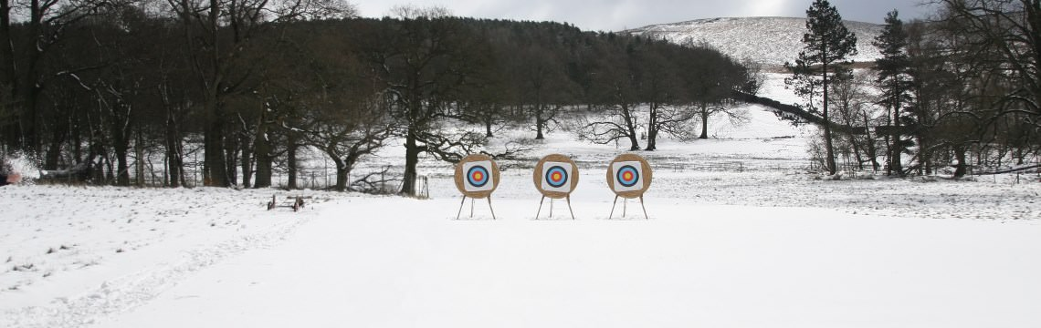 Photo of the Bowmen of Lyme grounds in winter